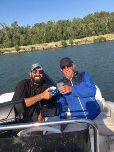 pêche silure en bateau avec jean-claude